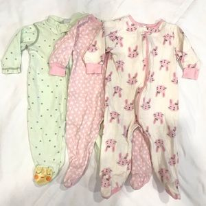Bundle of 3 baby sleepers/footies